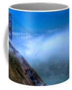 Golden Gate Bridge In The Fog Coffee Mug