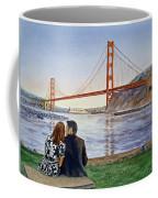 Golden Gate Bridge San Francisco - Two Love Birds Coffee Mug