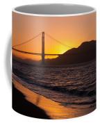 Golden Gate Bridge Sunset Coffee Mug
