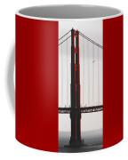 Golden Gate Bridge - Sunset With Bird Coffee Mug
