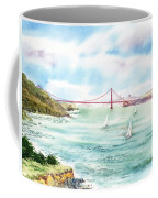 Golden Gate Bridge View From Point Bonita Coffee Mug by Irina Sztukowski