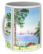 Golden Gate Bridge View Window Coffee Mug