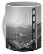 Golden Gate In Bw Coffee Mug