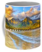 Golden Hanalei Morning Coffee Mug