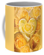 Golden Heart Of Roses Coffee Mug