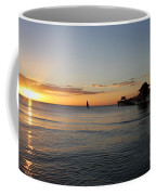 Golden Hour At Naples Pier Coffee Mug