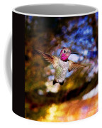 Golden Light Hummingbird Flight Coffee Mug