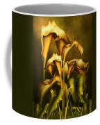 Golden Lilies By Night Coffee Mug