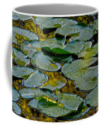 Golden Lilly Pads Coffee Mug