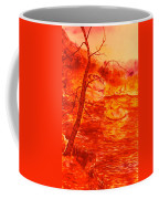 Golden Mountain Lake Morning  Coffee Mug