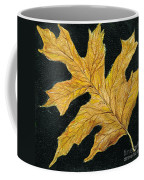 Golden Oak Leaf Coffee Mug