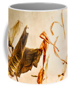 Golden Pages Falling Flowers Coffee Mug