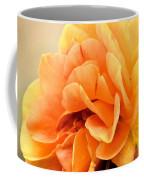 Golden Peach Rose Coffee Mug