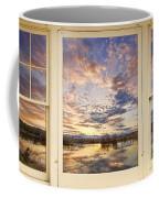 Golden Ponds Scenic Sunset Reflections 4 Yellow Window View Coffee Mug