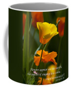 Golden Poppy Floral  Bible Verse Photography Coffee Mug