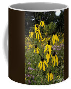 Golden Prairie Coneflower Watercolor Effect Coffee Mug