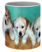 Golden Puppies Coffee Mug by Michelle Calkins