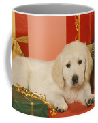 Golden Retriever Amongst Presents Coffee Mug