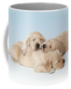 Golden Retriever Puppies Asleep Coffee Mug