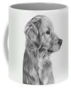 Golden Retriever Puppy In Charcoal One Coffee Mug