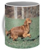 Golden Retriever Running Coffee Mug