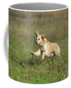 Golden Retriever Running Coffee Mug