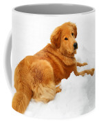 Golden Retriever Snowball Coffee Mug by Christina Rollo