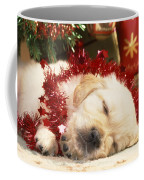 Golden Retriever Under Christmas Tree Coffee Mug