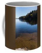Golden Ripples Bedrock - Fall Reflection Tranquility Coffee Mug