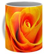 Golden Rose - Digital Painting Effect Coffee Mug