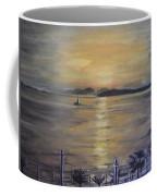 Golden Sea View Coffee Mug