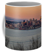 Golden Seattle Skyline Sunset Coffee Mug
