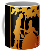 Golden Silhouette Garden Proposal Will You Marry Me Coffee Mug