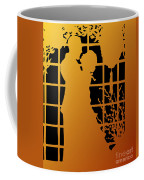 Golden Silhouette Of Couple Embracing Coffee Mug