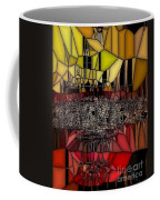 Golden Stained Abstract Coffee Mug