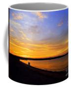 Golden Sunset On The Harbor Coffee Mug