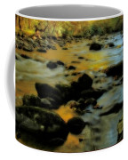 Golden View Of The Little River In Autumn Coffee Mug by Dan Sproul