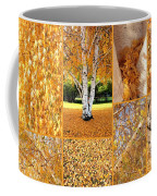 Golden Weeping Birch Tree Collage Coffee Mug