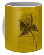 Golden Wood Flower Coffee Mug