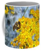 Golden Yarrow And Visitor Coffee Mug