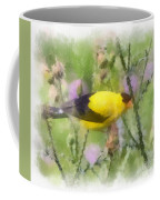 Goldfinch #3 By Kerri Farley Coffee Mug