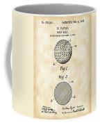 Golf Ball Patent 1906 - Parchment Coffee Mug