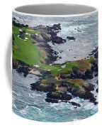 Golf Course On An Island, Pebble Beach Coffee Mug