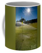 Golf Course Sprinkler On Sunny Day Coffee Mug