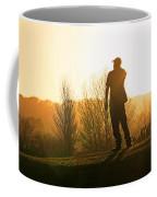 Golfer At Sunset Coffee Mug