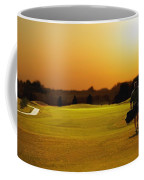 Golfer Walking On A Golf Course Coffee Mug