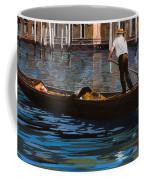 Gondoliere Sul Canale Coffee Mug by Guido Borelli