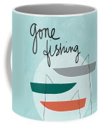 Gone Fishing Coffee Mug by Linda Woods