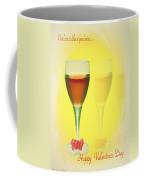 Good Wine Valentine Card Coffee Mug