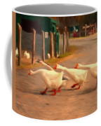 Goose Crossing Coffee Mug by Michael Pickett